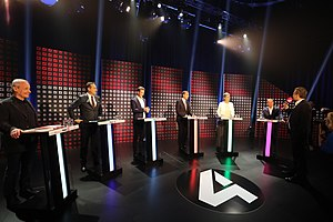 Austrian legislative election, 2017 - Puls 4 TV debate of the main candidates
