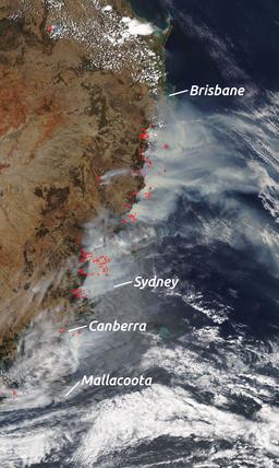 2019-12-07 East Australian Fires Aqua MODIS-VIIRS-LABELS