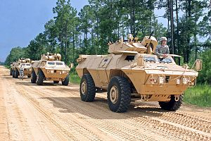 M1117 Armored Security Vehicle - U.S. Army National Guard M1117 Armored Security Vehicles at Fort Stewart, Georgia in June 2010.