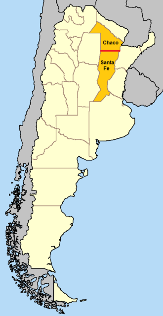 28th parallel south - In Argentina, the 28th parallel south defines the border between Chaco Province and Santa Fe Province.
