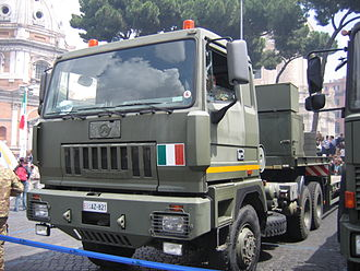 Astra (company) - Astra HD7 Military Truck in the Italian army parade in Italy, 2007.