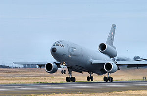 349th Operations Group - McDonnell Douglas KC-10A Extender 82-0191 taking off at Travis AFB