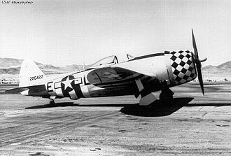353rd Fighter Group - Republic P-47D-25-RE Thunderbolt 42-26422 (LH-E) of the 350th Fighter Squadron