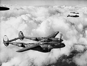 "RAF Honington - Lockheed P-38J-10-LO Lightning Serial 42-67978 ""Betty A"" of the 383d Fighter Squadron"