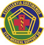374 Medical Support Sq emblem.png