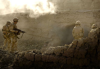 42 Commando - Mike Company of 42 Commando Royal Marines during Operation Volcano, Afghanistan in 2007.