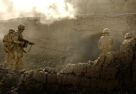 Mike Company of 42 Commando Royal Marines during Operation Volcano, Afghanistan in 2007.