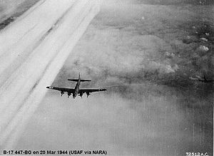 Allied siege of La Rochelle - The USAAF's 447th Bomb Group helped raze the nearby city of Royan.