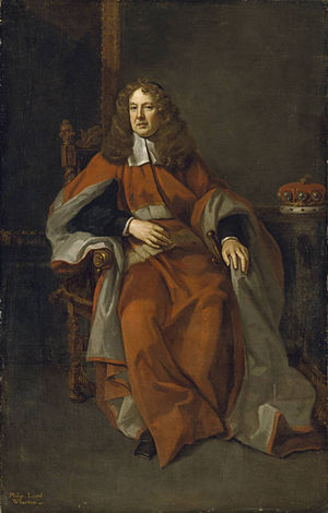 Philip Wharton, 4th Baron Wharton - Lord Wharton in a 1685 portrait by Kneller.