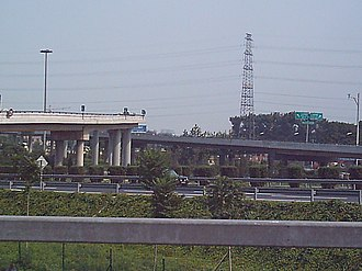 5th Ring Road (Beijing) - The 5th Ring Road at Shangqing Bridge (July 2004 image)