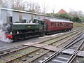6435 GWR Pannier Tank with Autocoach on Bodmin & Wenford Railway (8353186867).jpg