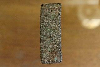 Fragment d'inscription votive de Saint-Auban (Musée de Die)