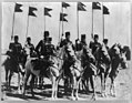 8 members of the Turkish cavalry on horseback with flags LCCN2002708818.jpg