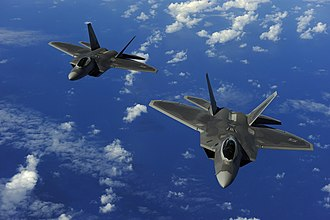 90th Fighter Squadron - U.S. Air Force F-22 Raptors assigned to the 90th Fighter Squadron
