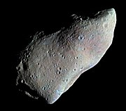 951 Gaspra, the first asteroid to be imaged in close up.