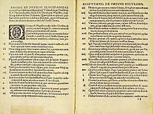 Martin Luther's 95 Theses which sparked off the Reformation in a print edition from 1522. Within the span of only two years, Luther's tracts were distributed in 300,000 printed copies throughout Germany and Europe.[28] (Source: Wikimedia)