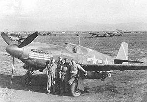 "North American A-36 Apache - Image: A 36 ""Apache"" of the 27th Fighter Bomber Group"
