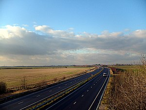 North East Lincolnshire - The A180 near Immingham, an important road for the authority