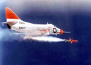 AGM-45 Shrike - A-4 Skyhawk launching an AGM-45 Shrike.