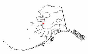 Unalakleet, Alaska - Image: AK Map doton Unalakleet