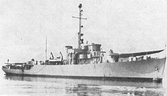Colombian Navy - ARC Almirante Padilla (CM 51) circa 1948.