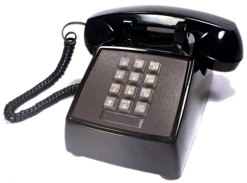 AT&T push button telephone western electric model 2500 dmg black