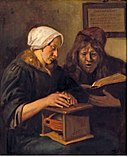 A Couple Warming Themselves and Reading the Bible by Jan Steen.jpg