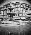 A Kálvin tér a Danubius kúttal. Fortepan 2845.jpg