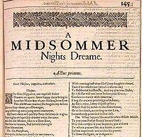 William Shakespeare, A Midsummer Night's Dream