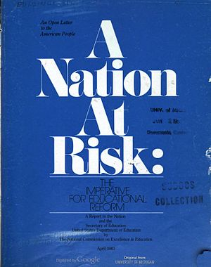 A Nation at Risk - Image: A Nation at Risk