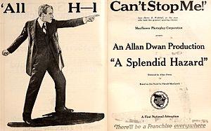 A Splendid Hazard - Ad for A Splendid Hazard with Henry B. Walthall
