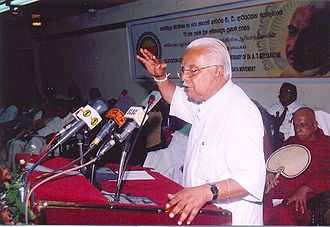 A. T. Ariyaratne - A. T. Ariyaratne addressing a gathering