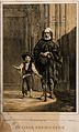 A blind beggar stands with a boy beside a church, Cadiz, Spa Wellcome V0015896.jpg