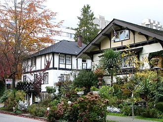 West End, Vancouver - A couple of typical older-era houses on Comox Street