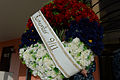 A memorial wreath to honor the victims of the 9-11 terrorist attacks is seen during a ceremony Sept 140911-N-QY759-047.jpg