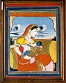 A mother breast-feeding a divine baby. Gouache. Wellcome V0018246.jpg