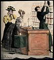 A young male apothecary serving and flirting with two young Wellcome V0010769.jpg