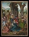 Aanbidding door de koningen, Meester van de Aanbidding te Antwerpen, 16de eeuw, Koninklijk Museum voor Schone Kunsten Antwerpen, 208 (center).jpg