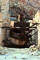 Abandoned sulfur mines Milos, crushing ore, 153089q.jpg