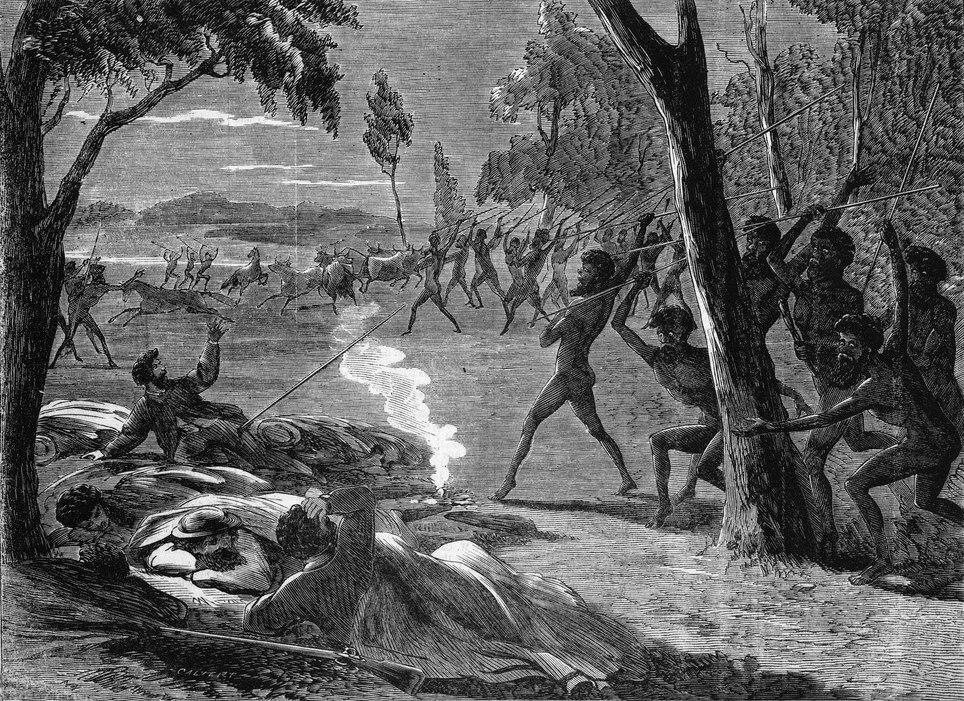 Aboriginal attack Lake Hope