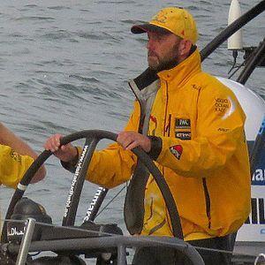 Ian Walker (sailor) - Image: Abu Dhabi, steady... Marca assim... ador vor itajaistopover volvooceanrace sail (17053660262)