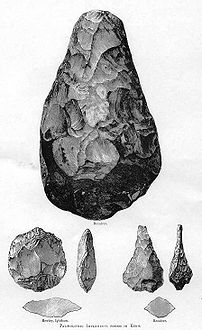 Hand axes from the Acheulian period