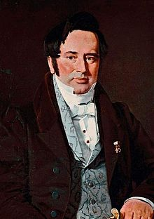 Portrait of Adam Oehlenschläger by Christian Albrecht Jensen (1825)