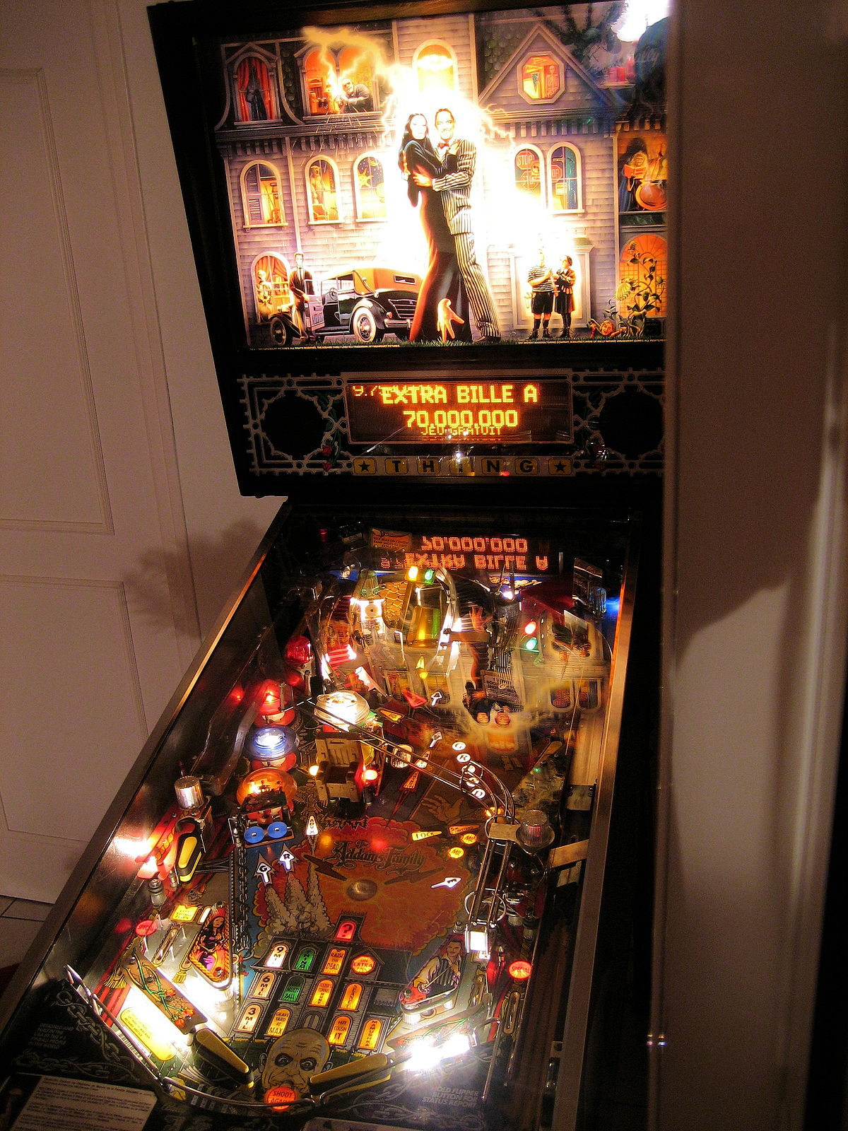 family pinball machine