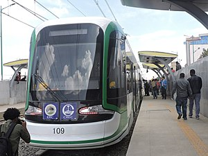 Addis Ababa Light Rail vehicle, March 2015