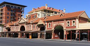 East Terrace, Adelaide - The facade of the former Fruit and Produce Exchange building near the north end of East Terrace.