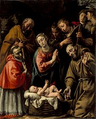 Adoration of the Shepherds with Saints Francis and Carlo Borromeo