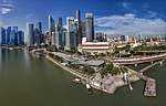Aerial Panorama of Merlion Park and its surrounds.jpg