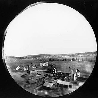 Karlskoga Municipality - The first aerial photograph by rocket was of Karlskoga using one of Alfred Nobel cameras c. 1897, rocket possibly by Captain Wilhelm T. Unge.