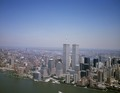 Aerial view of New York City, in which the World Trade Center Twin Towers is prominent LCCN2011632532.tif